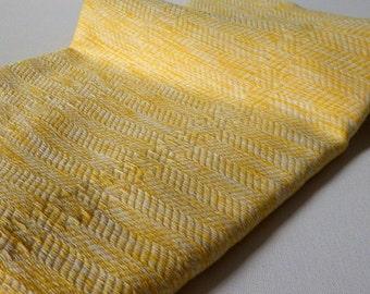 Turkish Towel Bamboo Peshtemal Towel hand loomed Sprinkled Peshtemal in yellow Pure Soft