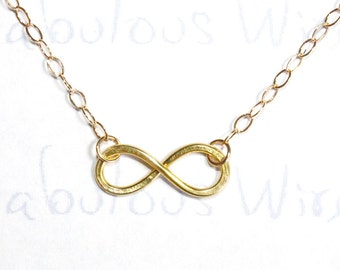 Gold Infinity Love Necklace, Infinity Love And Friendship Necklace, Everyday Wear Jewelry, Lovers and Friend Gift, Wedding Jewelry