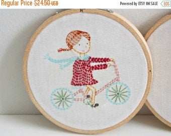 CHRISTMAS In JULY SALE Embroidery Hoop Wall Art - Childrens Room Decor