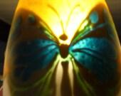 Glass Lamp Shades, Pendant Light, Butterflies, Art Deco.