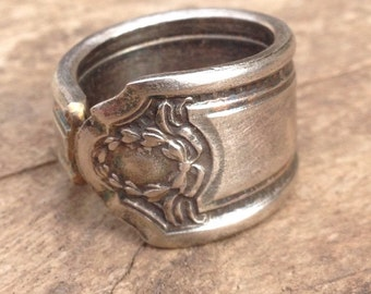 spoon ring unique purity ring silver by forgetoeternity