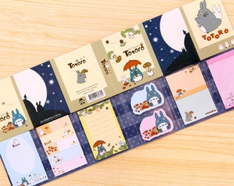 Scrapbook Greeting Card Sticky Memo Hang Tag Index Post it Pad - Blue Totoro