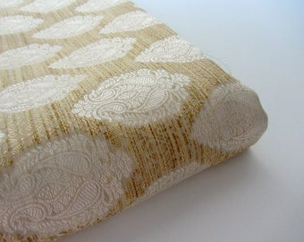 Beige off white natural silk brocade fabric nr 732- 1/4 yard | fat quarter