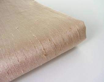 Champagne wedding bridal shantung raw silk fabric number 743  - 1/4 yard | fat quarter