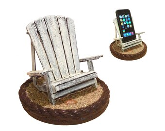 iBeach in Rustic White - A Beach Chair for iPhones, Galaxies or Any Other, even for Plus-Size Phones