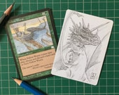 Magic the Gathering Artist's Proof with pencil sketch on the reverse