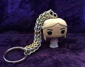 Custom, handmade Daenerys Targaryen chainmaille keychain