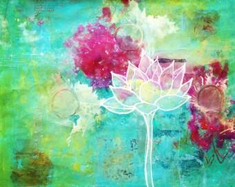 SOLD -- Growing Green Lotus