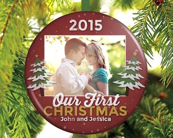 Our First Christmas Photo Christmas Ornament