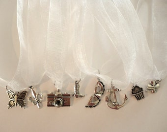 Wedding Cake Pull Charms, Bridal Shower, Cake Pulls,Girl's Night Out,  Cake Charms