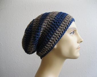 Slouchy Beanie - Crochet Beanie- Mens Beanie - Crochet Slouchy Beanie - Crocheted Beanie - Beanies - Crochet Beanie Hat - Slouchy Beanie Hat