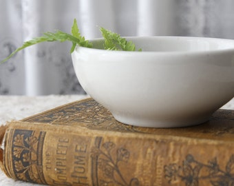 White Ironstone Footed Bowl by Tepco