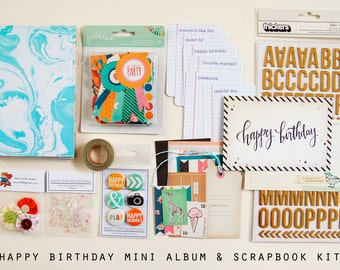 Happy Birthday Mini Album / Journal and Scrapbook Kit