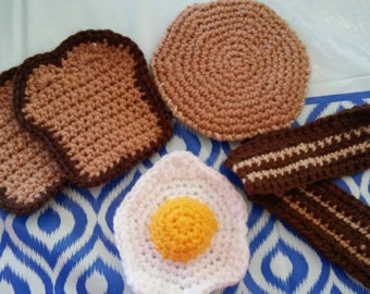 Crochet Breakfast Food