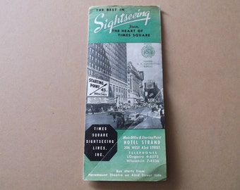"Vintage 1952 ""Times Square"" Sightseeing Lines,Inc. Brochure"