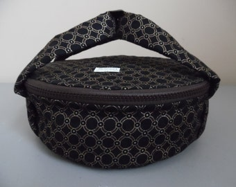 Quilted Golden Circles N Dots Pie Or Casserole Carrier