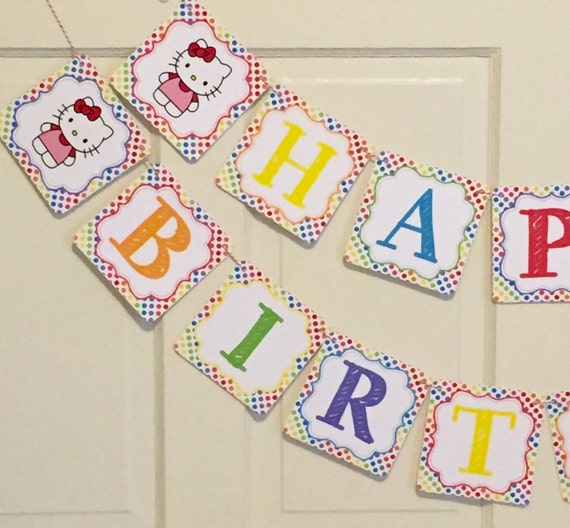 HELLO KITTY Inspired Happy Birthday Party Or Baby By