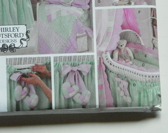Baby Quilt and Basinet Skirt and Much more Simplicity Pattern 3719