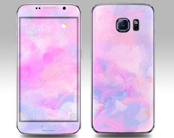 PINK WATERCOLOR Galaxy Decal Galaxy Skin Galaxy Cover Galaxy S6 Skin, Galaxy S6 Edge Decal Galaxy Note Skin Galaxy Note Decal Cover