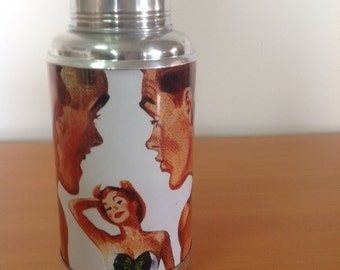 Vintage retro China thermos new deer brand