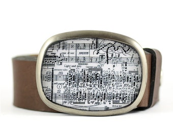 Sheet Music Belt Buckle, Music Belt Buckle