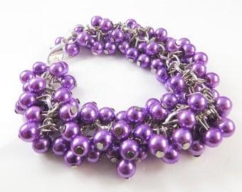 Lavender pearl cha cha bracelet