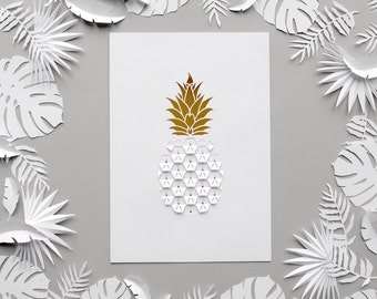 Pineapple Papercut
