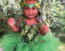 Poison Ivy crochet tutu dress  costume complete