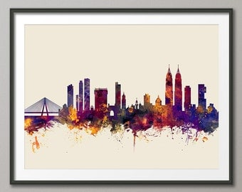 Mumbai Skyline, Bombay India Cityscape, Art Print (2272)