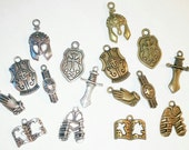 The Full Armor Of GOD Charm Sets Bronze or Silver - ts020