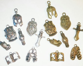 Reserved for Jessica  -  The Full Armor Of GOD Charm Sets 30 SILVER - ts020