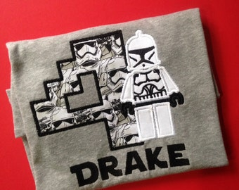 Storm Trooper Birthday Shirt, Star Wars Birthday Shirt or Onesie, Star Wars Party