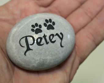 Pet memorial pocket stone engraved in memory of your pet