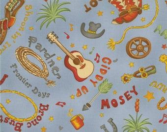 Fabric 1 yd  51226-13 MODA The Udder Cowboy Sew Treasured     FREE SHIPPING