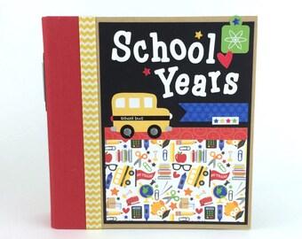 School Scrapbook Album Kit or Pre-made Preschool through Senior Years