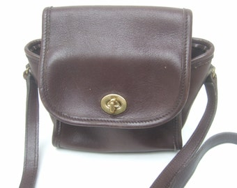 COACH Small Chocolate Brown Leather Shoulder Bag (Genuine)