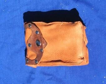 Leather Tarot Belt Pouch