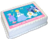 Cinderella Personalised A4 Edible Cake Topper