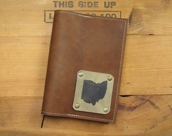 "5 ""X 7"" Refillable Leather Journal-Ohio"