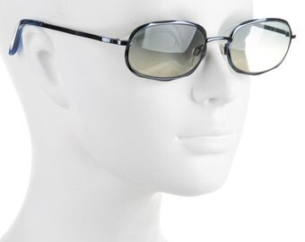 10,000 LIKES 7 Day Sale 90s Jil Sander Baby Blue Y2K Millenium Futuristic Sci Fi Large Oval Eye Vintage Designer Metal Sunglasses
