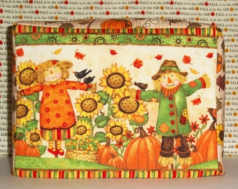 Toaster Cozy, Fall is in the Air, Scarecrows,  Pumpkins and Sunflowers, Two slice Toaster Cover