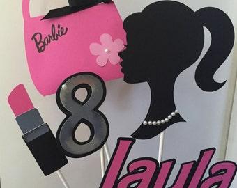 Barbie  Centerpiece/ Cake Topper