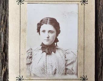 Original Antique Matted Photograph Sultry Suzanne