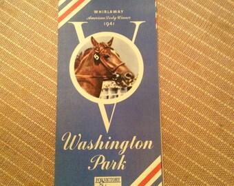 1942 Washington Park Racetrack Program