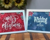 Merry Christmas Greeting Card, Watercolor Christmas Card, Simon Says Stamps, Avery Elle Stamps, WPlus9 Stamps