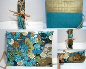 Quilted Flower Crochet Roll Double Pointed Needle Rollup