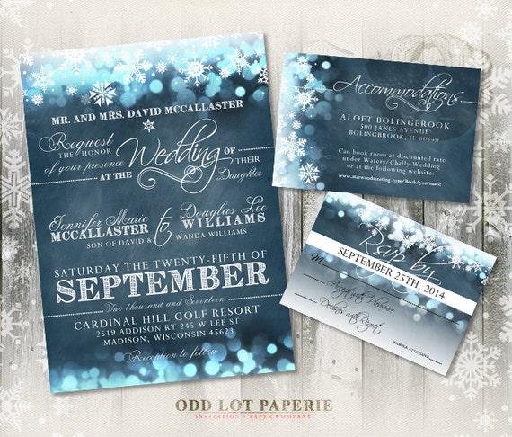 snowflake wedding invitations – gangcraft, Wedding invitations