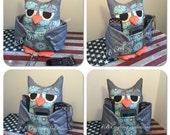 Owl Pocket Holder/ Owl Remote Holder/ Owl Cell Phone Holder