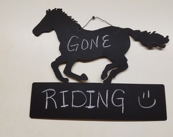 Chalkboard Horse with Block  Free Shipping