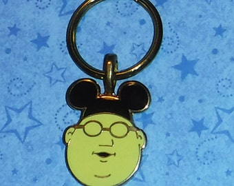 Bunsen Burner Muppet Keychain Re-Purposed Disney Pin, Over 2 inches Long